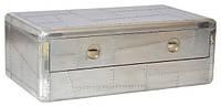 Столик кофейный Avaitor coffee table AVT28. Металл алюминий. Столик в стиле Лофт. Ручная работа. Сделано в Индии.