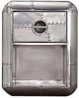 Столик кофейный Avaitor 1 drawer side table AVT32. Металл алюминий. Столик в стиле Лофт. Ручная работа. Сделано в Индии.
