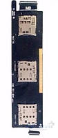 Шлейф для Asus ZenFone 6 (A600CG) Dual Sim с разъемом SIM-карты и карты памяти Original
