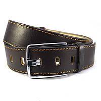Мужской кожаный ремень KB 45-01 коричневый