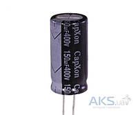 Aksline Конденсатор электролитический 150 µF 400V, 105°C, d18 h35.5