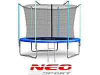Батут NeoSport 435 см. с внутренней сеткой и лесенкой
