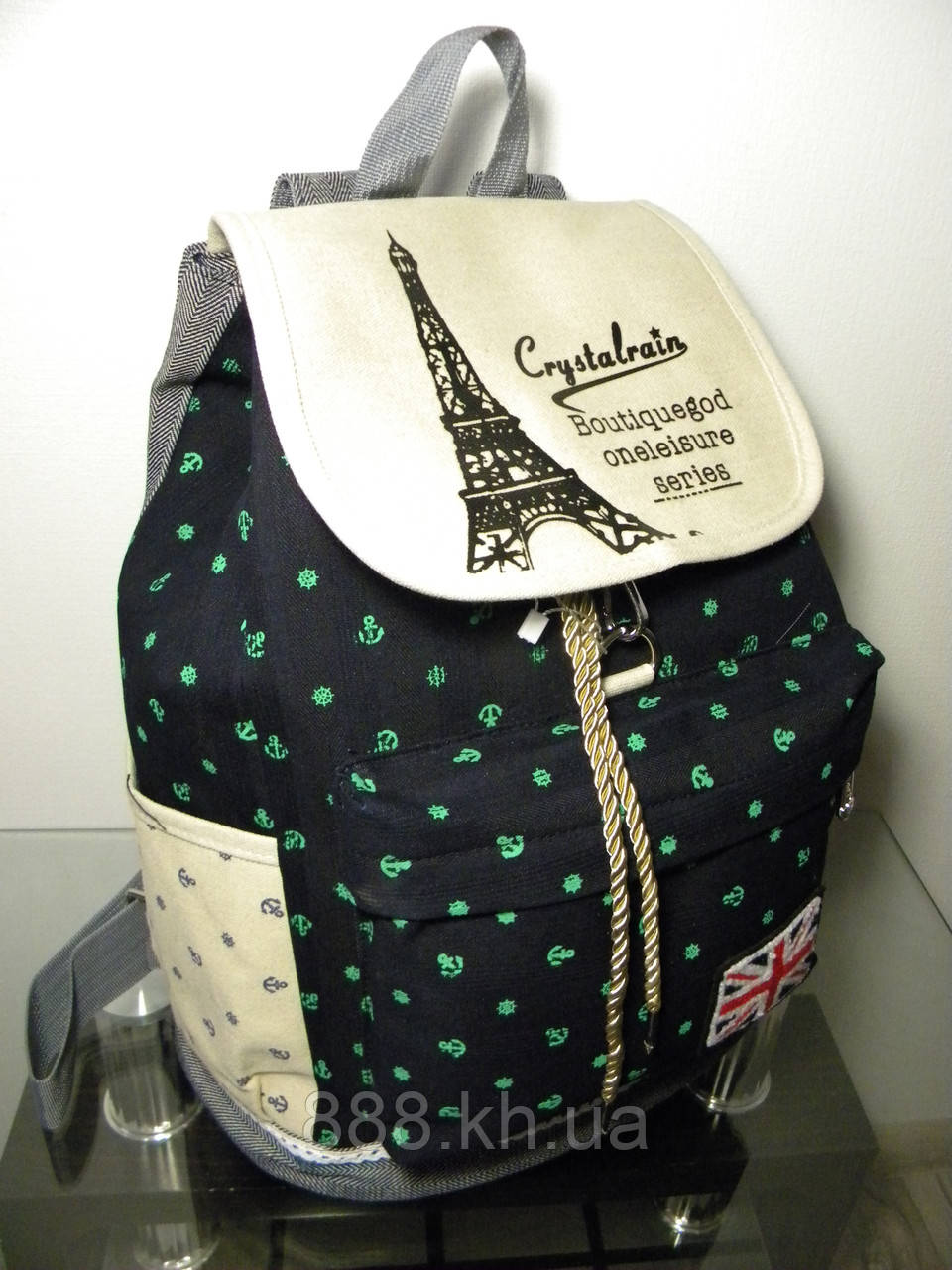 Жіночі рюкзак, городской рюкзак якаря зеленый.