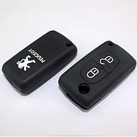 Чехол для ключа автомобиля Peugeot 208, 207, 3008, 308, RCZ, 408, 2008, 407, 307 2 кнопки