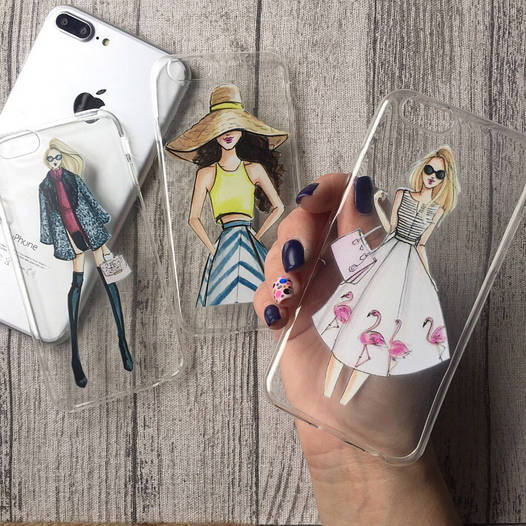 Силиконовые чехлы с девушками для iPhone 6 Plus/6s Plus