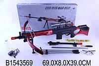 Винтовка-арбалет на аккумуляторе, с прицелом, стреляет водяными пулями, в коробке 69,0*39,0*8,0см