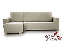 Чехол натяжной на Угловой диван (левосторонний) Испания, Sandra лен