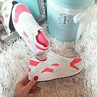 Женские кроссовки Копия бренд бело-розовые код226