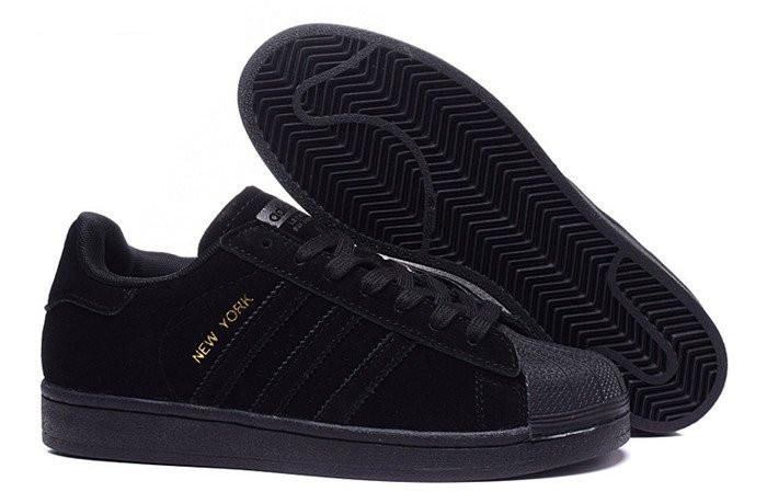 adidas superstar suede black