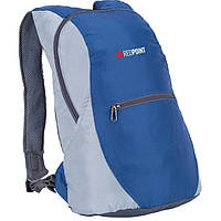 Городской рюкзак Plume 10, ультра компактный, унисекс, серый/синий, полиэстер, 36х24х80 см