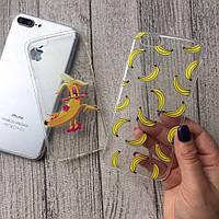 Силиконовые чехлы с банановым принтом для iPhone 7 Plus
