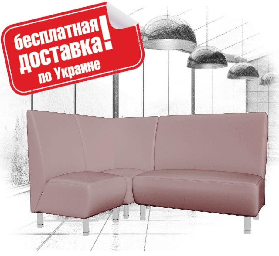 Угловой диван (комплект мягкой мебели) из кожзама для кафе, офиса серый, фото 1