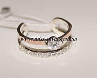 Фаланговое кольцо из серебра Star