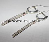 Длинные серьги из серебра Мириам, фото 1