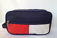 Мужская косметичка-несессер прямоугольная с наружным карманом и ручкой