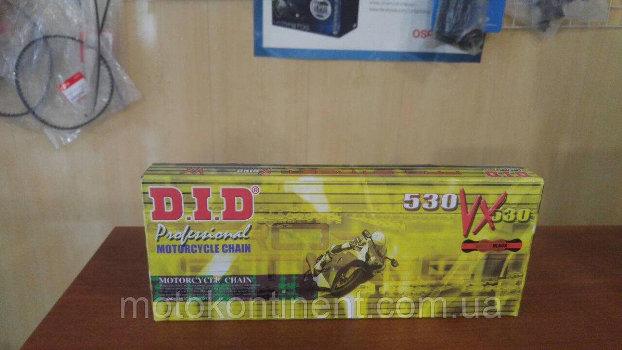 Мотоцепь 530 DID 530VX 120 для мотоцикла чорно-золота кількість ланок 120 сальники X-Ring