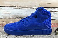 Кроссовки мужские Adidas Originals Tubular Invader Strap 2.0 Blue(в стиле адидас) синие