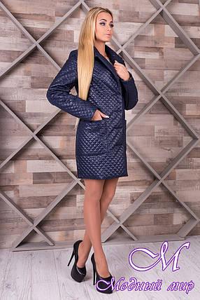Женское стеганое демисезонное пальто (р. S, M, L) арт. Кари 10027, фото 2
