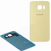 Задняя крышка Samsung Galaxy S6 G920F gold, сменная панель