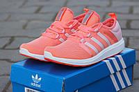 Женские кроссовки Adidas Bounce, дышащая сетка, кораловые / бег кроссовки женские Адидас Боунс, стильные