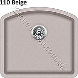 Прямоугольная гранитная мойка 585х535 мм. Aquasanita (Литва) Arca SQA-103, монтаж под или в столешницу, фото 5