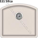 Прямоугольная гранитная мойка 585х535 мм. Aquasanita (Литва) Arca SQA-103, монтаж под или в столешницу, фото 4