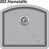 Прямоугольная гранитная мойка 585х535 мм. Aquasanita (Литва) Arca SQA-103, монтаж под или в столешницу, фото 6