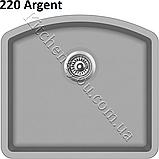 Прямоугольная гранитная мойка 585х535 мм. Aquasanita (Литва) Arca SQA-103, монтаж под или в столешницу, фото 7