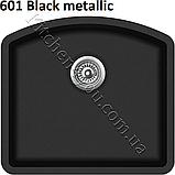 Прямоугольная гранитная мойка 585х535 мм. Aquasanita (Литва) Arca SQA-103, монтаж под или в столешницу, фото 9