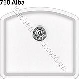 Прямоугольная гранитная мойка 585х535 мм. Aquasanita (Литва) Arca SQA-103, монтаж под или в столешницу, фото 3