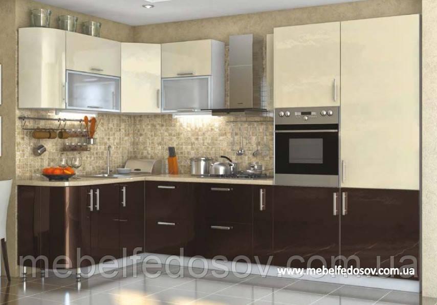 кухня Hihg Gloss хьюго глосс мебель стар ванильшоколад угловая