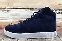 Кроссовки мужские Adidas Originals Tubular Invader Strap 2.0 Navy (в стиле адидас) синие