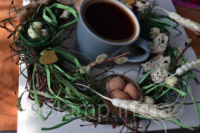 пасхальный венок на стол из березы