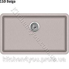 Прямокутна гранітна мийка 810х480 мм. AquaSanita (Литва) Arca SQA-104, монтаж під або в стільницю