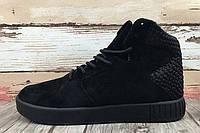 Кроссовки мужские Adidas Originals Tubular Invader Strap 2.0 Black (в стиле адидас) черные