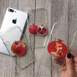 Силиконовые чехлы с фруктами для iPhone 4/4s
