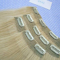 Накладные, натуральные волосы на заколках, фото 1