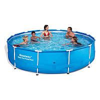 Бассейн каркасный BestWay 56415 Сборный Steel Pro Frame Pool 366 х 76 см , фото 1