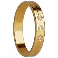 Золотые обручальные кольца с цирконием
