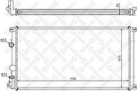 Радиатор Renault Master 2 Opel Movano 1.9-2.5CDI AC+ 730*415 01->мех. 7701057120