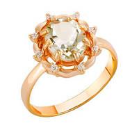 Золотое кольцо с празеолитом