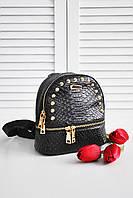 Женский городской рюкзак черного цвета 8267
