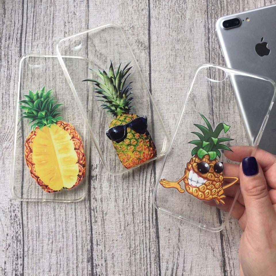 Силиконовые чехлы с ананасами для iPhone 4/4s