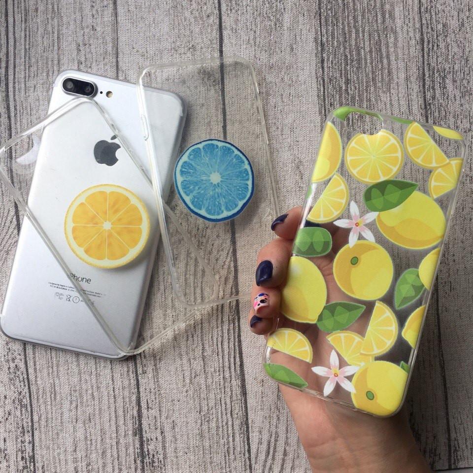 Силиконовые чехлы с лимонами для iPhone 4/4s