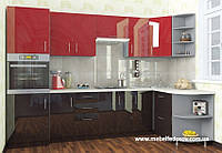 Кухня Hihg Gloss / Хьюго Глосс (Мебель стар) феррари+шоколад угловая, фото 1