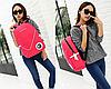 Стильный однотонный рюкзак городской, фото 2