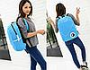 Стильный однотонный рюкзак городской, фото 3