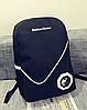 Стильный однотонный рюкзак городской, фото 6