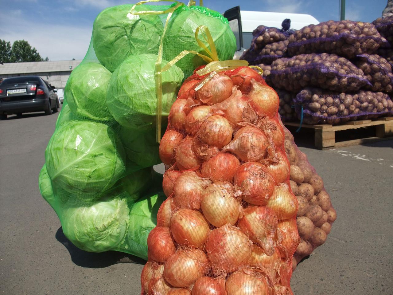 Мешок-сетка овощная 10 кг (30х55см). Картошка, лук, овощи, фрукты.