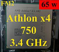 Процессоры (б/у) AMD Athlon x4 750, 3.4GHz, sFM2, Tray (AD750XOKA44HL)